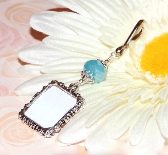 Blue Bridal Bouquet Charm : Wedding bouquet photo charm something blue by smilingbluedog