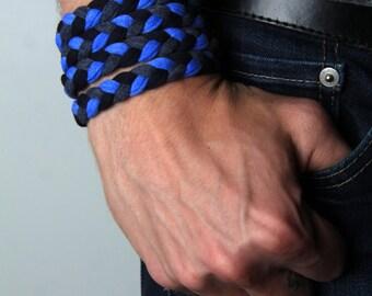 For Boyfriend, Wrap Bracelet, Cuff Bracelet, Braided Bracelet,  Boyfriend Gift, Boyfriend, Mens, Gift For Men, Gift For Him