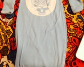 Steal Your Face Flower Infant Sleeper Gown- NB Fits Large (0m to 5m)