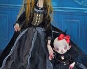 EXTRA SALE!!! Sarah and Nosferatatatianna - Halloween art doll, vampire, nosferatu, zombie, spooky, creepy, monsters, creatures, vampires