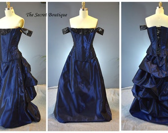 crimson peak gown-victorian-custom gown-the secret boutique-denver custom made corset-plus size gown-evening-couture-steampunk-gothic-bustle