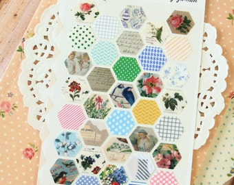 Honey Garden Sonia Floral Nature deco scrapbooking stickers