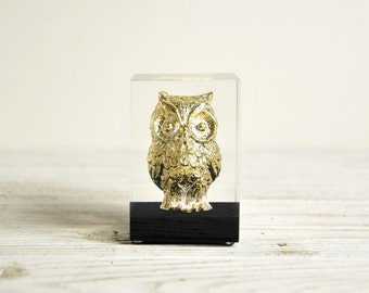 Owl Figurine, Mid Century Owl Bird Sculpture