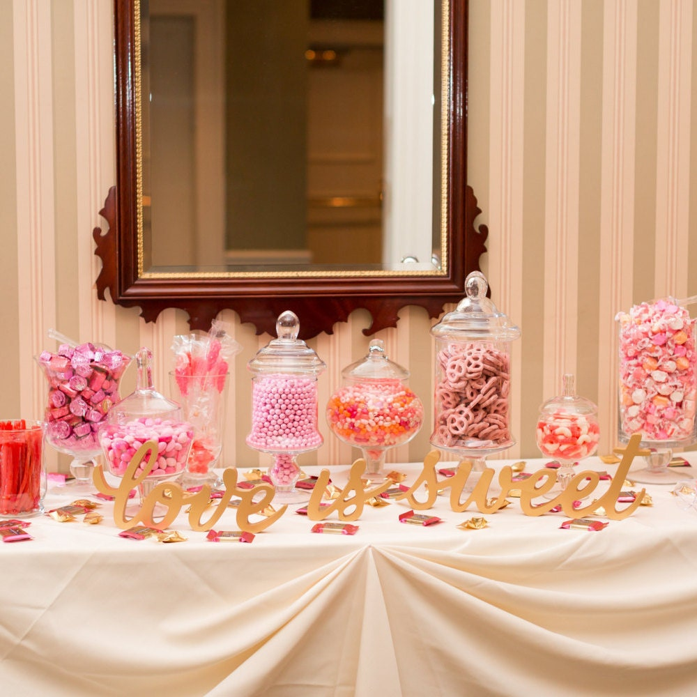 Love Is Sweet Wedding Signs For Dessert Table By ZCreateDesign