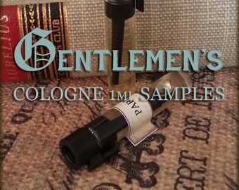 GENTLEMAN's Cologne Oil Set / 1ml Perfume cologne / Vegan cologne perfume / Mens Scent