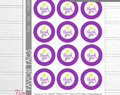 Rapunzel Birthday Party Printable NON-Personalized Favor Circles by Fara Party Design | Tangled Inspired  Birthday| Favor Tags