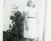 "Vintage Photo ""Last Day of School"" Children Girl Dress Snapshot Antique Photo Black & White Photograph Found Paper Ephemera Vernacular - 38"