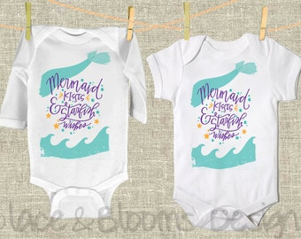 Mermaid Onsie -  Mermaid Infant Clothing  - Baby Shower Gift  - Baby Clothing  - Photo Prop - Unique Baby Clothing