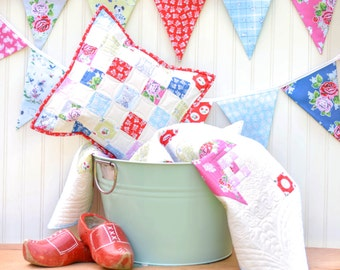 Strawberry Biscuit Baby Quilt, Pillow Cover and Bunting