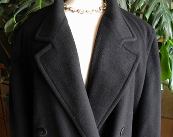 Black imported 100% cashmere dress coat