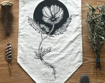 California Poppy- Wall Hanging Banner