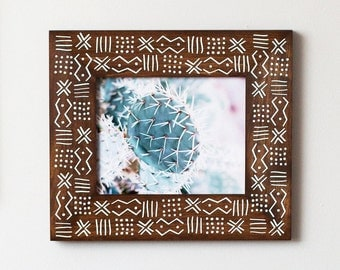 8x10 Picture Frame | 8x10 | African Pattern Frame