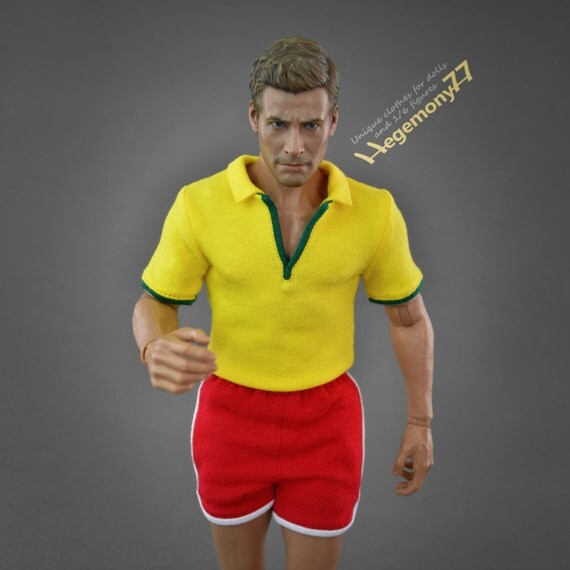 1/6th scale Forrest Gump inspired running outfit set for: regular size collectible movable action figures and male fashion dolls