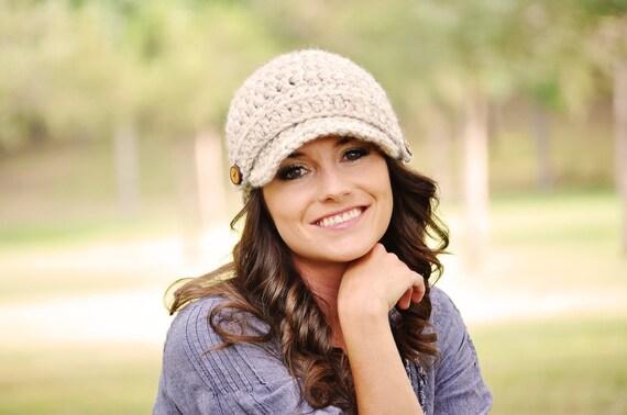 Hand Crocheted Newsboy Hat / Women's Hat / Crochet Hat / Brimmed Beanie Hat / Fall Fashion / Gifts for Her / Women's Winter Hat