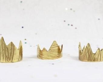 Mountain Ring - OOAK Jewelry - Jeweler's Brass or Sterling Silver