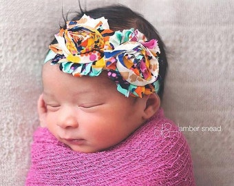 Boho Baby girl headband,  baby headbands, newborn headband, baby girl, flower headband, baby accessories, headband for baby, baby, headbands