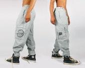 Bugle Boy/ Baggy Jeans/ Grunge Pants/ 90s Pants/ Grunge Jeans/ Club Kid/ 90s Club Kid/ 80s Pants/ Minimalist Clothing/ 80s Grunge