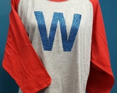 Fly the W Adult Raglan Shirt with GLITTER W!