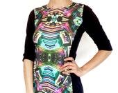 Bismuth Crystal Dress - Healing Rainbow Crystals - New Age Cocktail Dress - Chakras Balanced - Spirituality Stone Dress