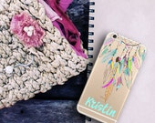 Dreamcatcher Iphone 6 Plus case clear with design, Tribal gift idea for teeagers - For 5/5s/SE,  6/6s /Plus, 7 /Plus (1620)