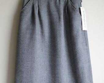 Vintage YSL Wool Herringbone Skirt