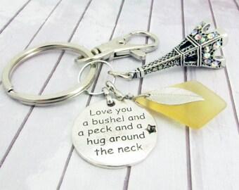Eiffel Tower Keychain, Paris Keychain, Eiffel Charm Keyring, Car Accessories, Travel Charm Keychain, France Keychain