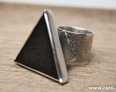 Sterling silver with shungite ring