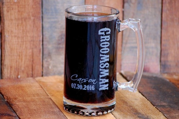 Engraved Wedding Party Gifts: Personalized Beer Mug Groomsmen Mug Personalized Mug For