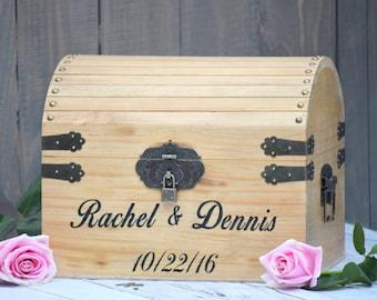 Lockable Card Box - Rustic Wedding Card Box - Rustic Wedding Decor - Advice Box Wishing Well - Shabby Chic Card Box - Wedding Card Box