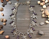ON SALE Amethyst Fairy Anklet - Fairy Anklet, Fairy Jewelry, Faeries, Amethyst Anklet, Amethyst Jewelry, Beaded Anklet, Fantasy Jewelry, Ank