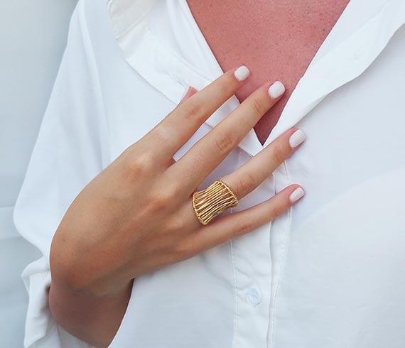 Gold statement ring Big rings Vintage rings Fashion rings