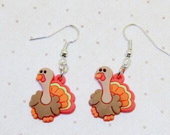 Thanksgiving Turkey Earrings,Turkey Jewelry,Thanksgiving Earrings,Thanksgiving Jewelry,Gobble, Gobble,Happy Thanksgiving!