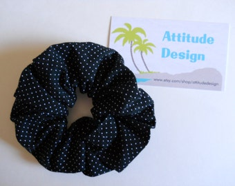 Scrunchie Black With Little White Dots