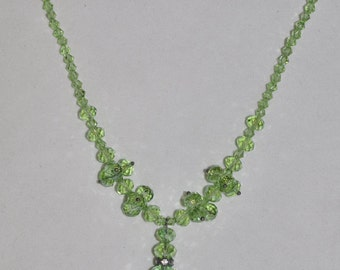 Necklace Green Crystal #480