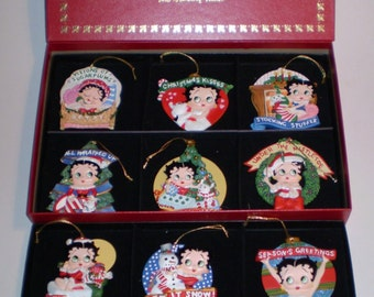 Danbury Mint Betty Boop Ornament Collection Set of 12 Ornament in Org Box SeePic
