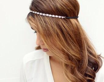 THE TIANA-Silver Crystal Gem Hair Chain Diamond Hair Jewelry Boho Festival Wedding Headpiece head chain  Spring Summer Headband Christmas