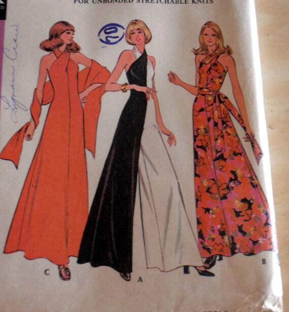 70er jahre vintage jumpsuit kleid und stola muster. Black Bedroom Furniture Sets. Home Design Ideas