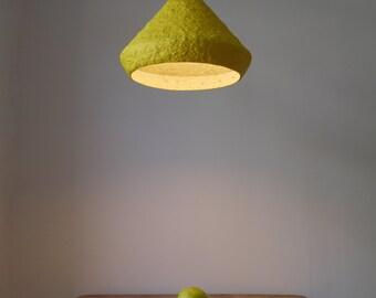Modern Pendant Light Industrial Lighting Modern Pendant Lamp Industrial Lamp Shade Minimalist Light Paper Mache Lamp Shade Mizuko Yellow