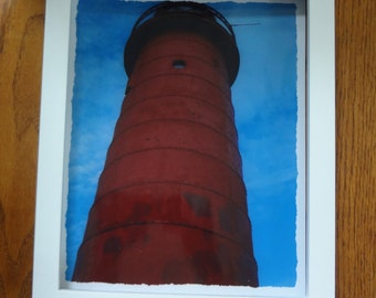 GRAND HAVEN LIGHTHOUSE Standing Guard Over Lake Michigan Framed Photo