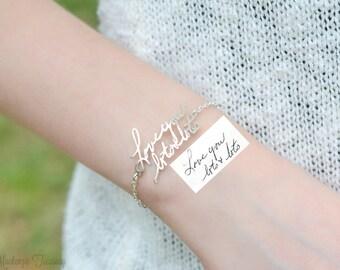 Custom Actual Handwriting Bracelet - Handwriting bracelet - Memorial Signature Bracelet -Personalized Handwriting Bracelet - Wedding Gift