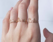 Custom Name Ring - Personalized Name Ring - Baby Name - New Mom Ring - Bridesmaid Jewelry - Meaningful Christmas Gifts - PR04F63