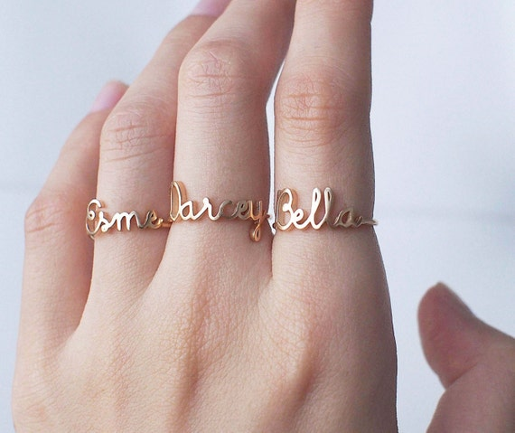 custom name ring personalized name ring baby name new. Black Bedroom Furniture Sets. Home Design Ideas