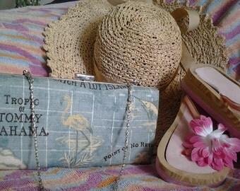 beach clutch clamshell clutch box clutch beach clutch resort vacation clutch