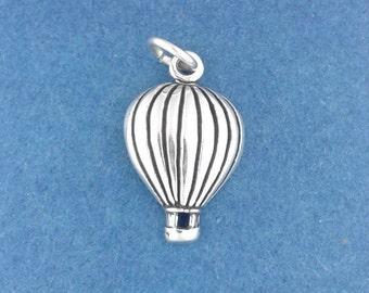 Hot Air BALLOON Charm .925 Sterling Silver