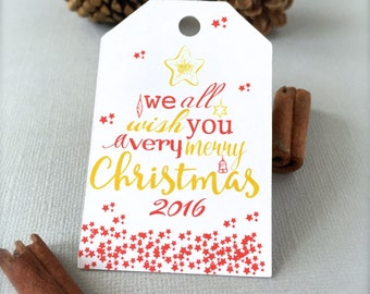 Christmas tags, gift tags, Holiday tags, Merry Christmas tags, gift wrapping, Christmas labels, present tags, party favor tags-12 tags(tg31)