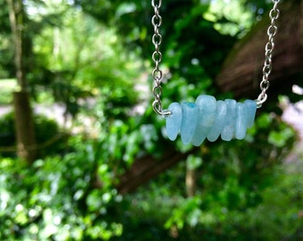 Mermaids Tears - aquamarine necklace