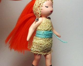 OOAK Sunset articulated Mori mini-doll