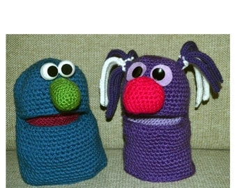 Easy Crochet Puppet Pattern Physical Copy