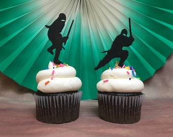 Ninja Cupcake Toppers, Black Belt cupcake Topper, Karate Cupcake Topper, Ninja Party, Karate Kid Party, Black Belt Party
