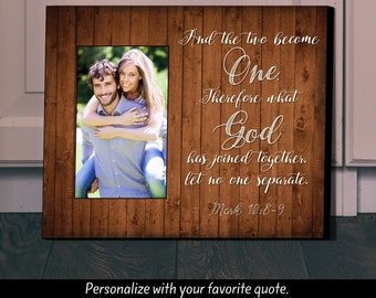 Personalized Picture Frame, Unique Wedding Gift, Two become One, Picture Frame, Personalized Frame,